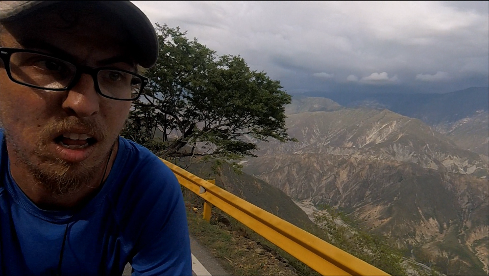 Bicycling along the Chicamocha Canyon to San Gil from Bucaramanga, Colombia